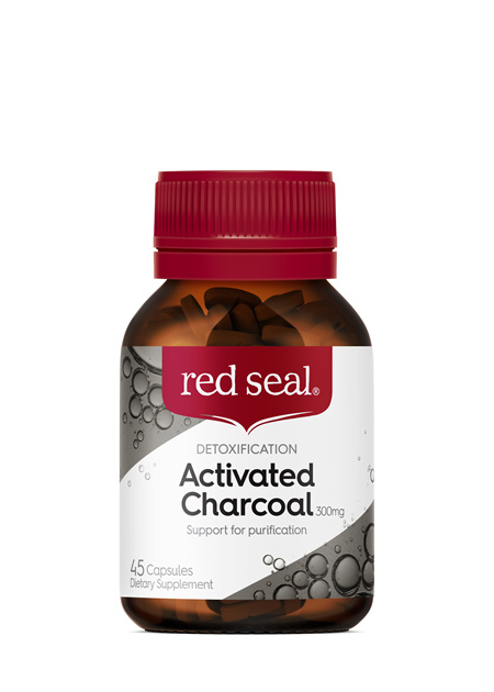 Red Seal Caps Activated Charcoal 300mg 45s