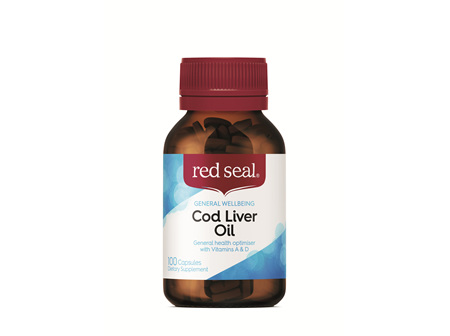 Red Seal Caps Cod Liver Oil 100's