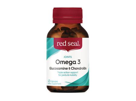 Red Seal Omega 3, Glucosamine & Chondroitin 45 Capsules