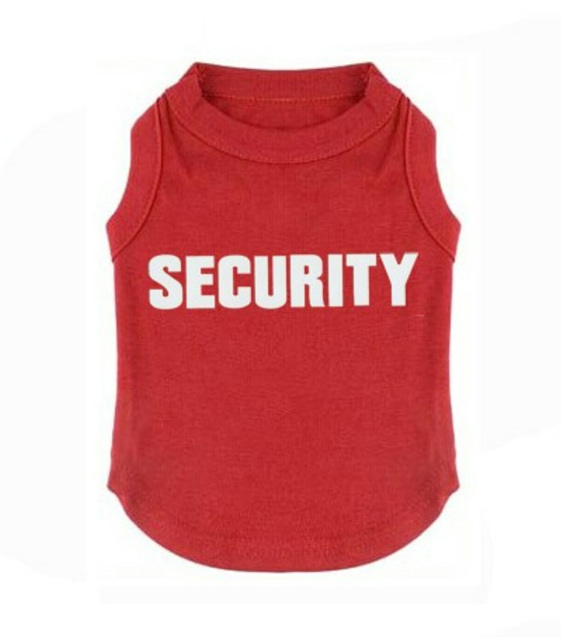 Red security shirt