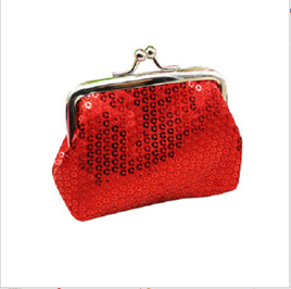 RED SEQUINED COIN PURSE