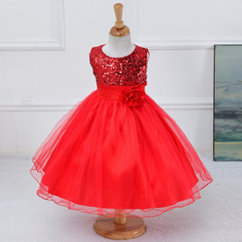 Red Sequined Party Dress - Size 4