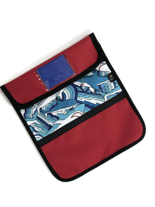 Red shark book bag made in NZ and free shipping