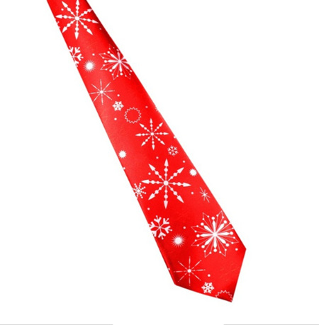 RED SNOWFLAKES CHRISTMAS NOLVETY TIE
