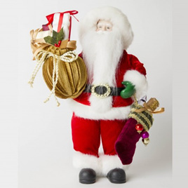 Red Standing Santa 30cm tall