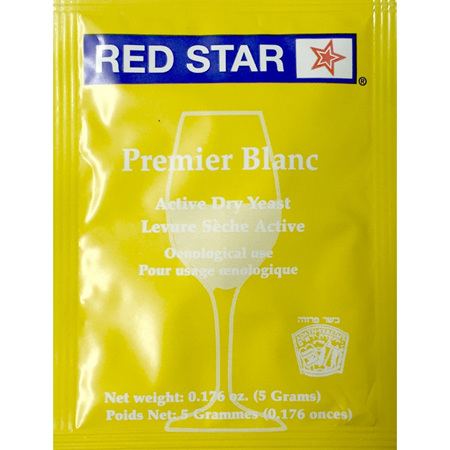 RED STAR Premier Blanc Home Winemaking Yeast 5g