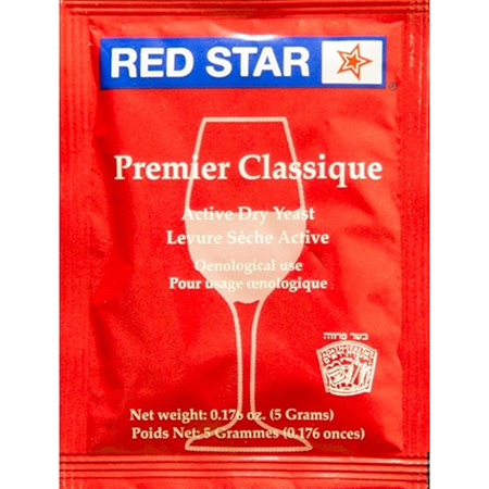 RED STAR Premier Classique (formerly Montrachet) Home Winemaking Yeast 5g