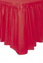 Red Table Skirt plastic 73cm x 4.26