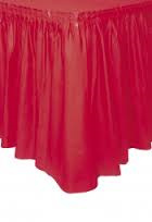 Red Table Skirt plastic 73cm x 4.26