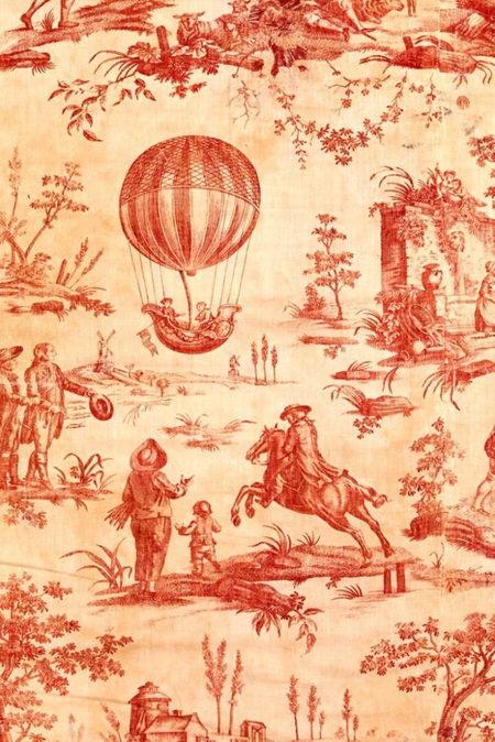 Red Toile Royce Decoupage Paper