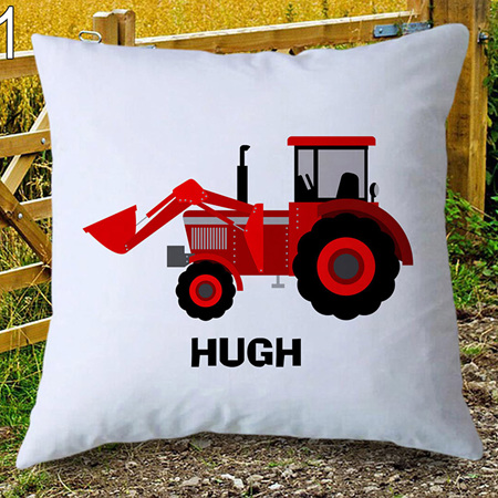 Red Tractor Personalised Cushion Cover