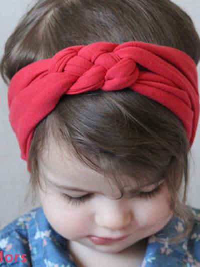 Red twisted headband