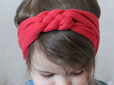 Red twisted headband