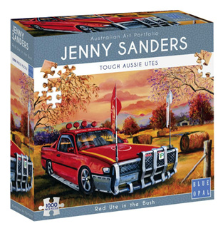 Blue Opal 1000 Piece Jigsaw Puzzle: Sanders - Red Ute In The Bush