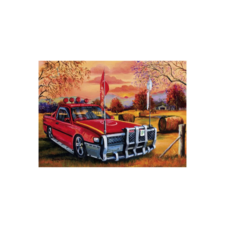 Red Ute in the Bush 1000 piece Blue Opal puzzle buy at www.puzzlesnz.co.nz