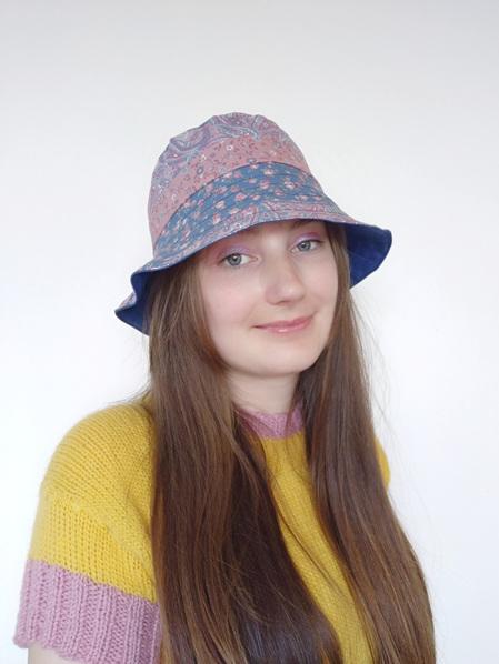 Red Vintage Floral Bucket Hat