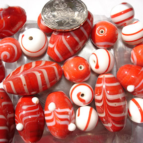 Red & White Bead Mix