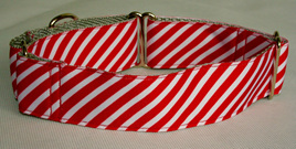 Red & White Candy Stripe Collar