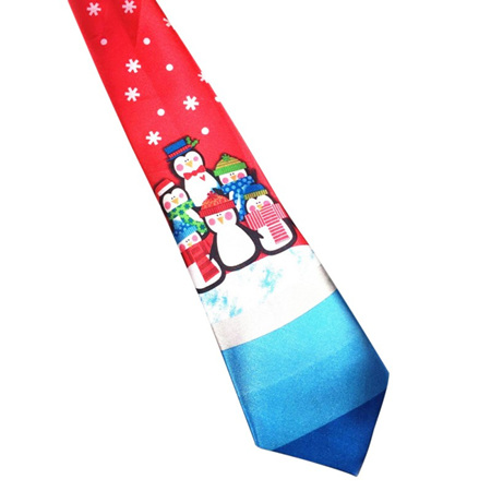 RED WITH PENGUINS CHRISTMAS NOLVETY TIE