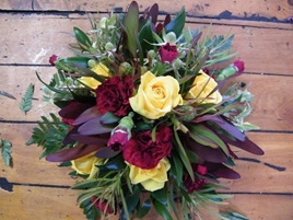 Red Yellow Green Table Top Posy Bowl