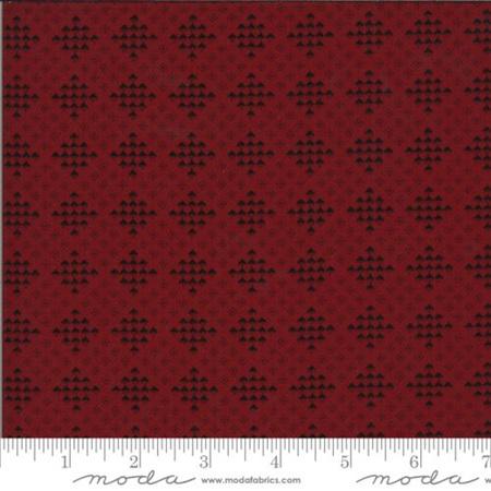 Redwork Gatherings Checker Block Dark Red 49116-16