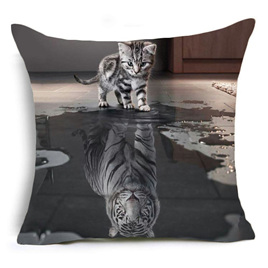 Reflections of the Tiger Within Cushion Cover