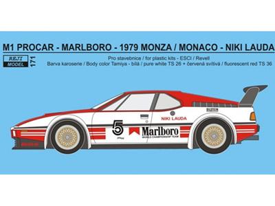 """Reji Decal - 1/24 BMW M1 Procar - 1979 / 1980 """"Marlboro"""""""