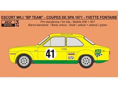 Reji Decal - 1/24 Ford Escort Mk.I (circuit version) - Coupes de Spa 1971 - 41 Yvette Fontaine