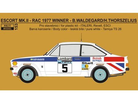 "Reji Decal - 1/24 Ford Escort RS 1800 ""British Airways"" - RAC 1977 winner"