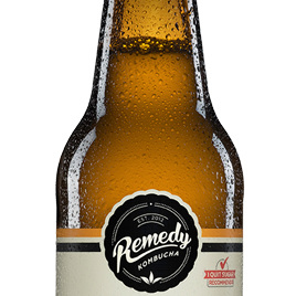 Remedy Organic Kombucha Ginger Lemon 330ml