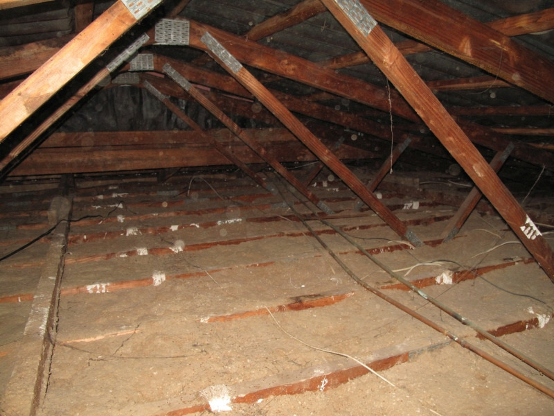 A ceiling full of old insulfluf really should be removed before installing new modern insulation
