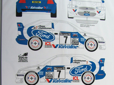 Renaissance 1/24 Escort WRC RAC 1998 Ford/Valvoline Decals