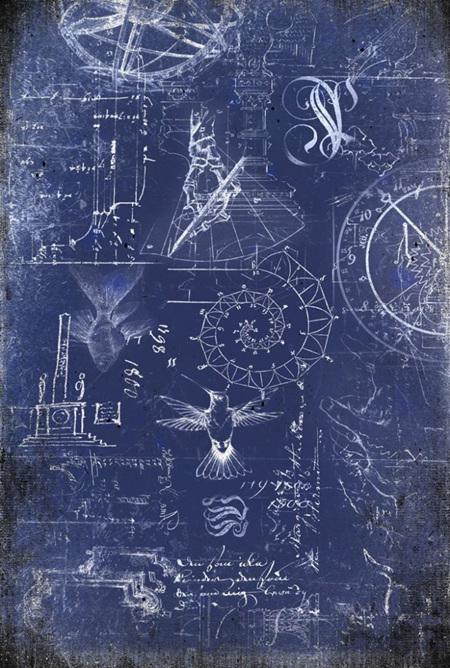 Renaissance Blueprint Royce Decoupage Paper