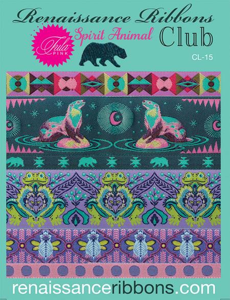 Renaissance Ribbons Spirit Animal Club from Tula Pink