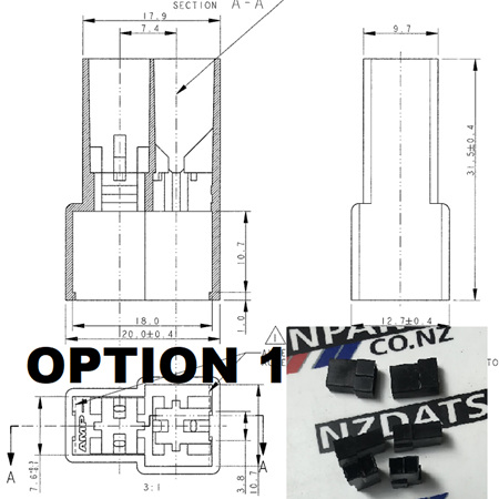 Replacement Connector Housings - 2 Pin