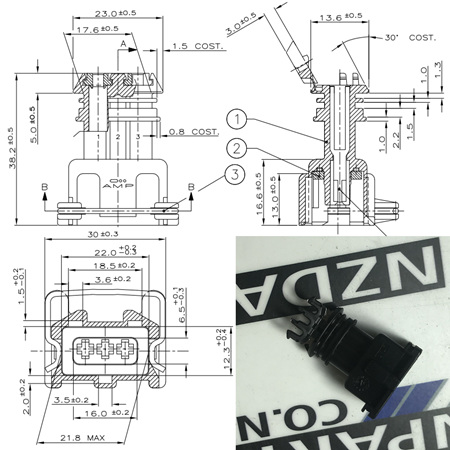 Replacement Connector Housings - 3 Pin