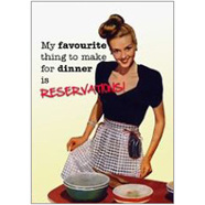 Reservations Fridge Magnet