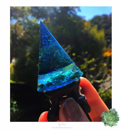 Resin Cone Christmas Trees - Blue Hues