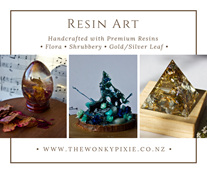 Resin Art, , Flowers, Nature Artist, Quartz, Wellington New Zealand,