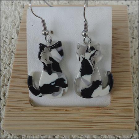 Resin Cat Earrings