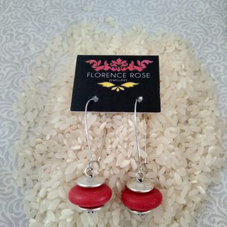 Resin Disk earrings
