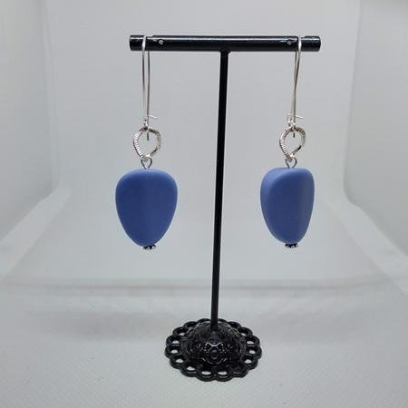 Resin Flat Pear Drop Earrings
