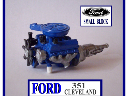 RESIN FORD 351 CLEVELAND ENGINE KIT 1/24 1/25 SCALE