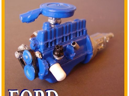 RESIN FORD 6 CYLINDER ENGINE KIT 1/25 SCALE