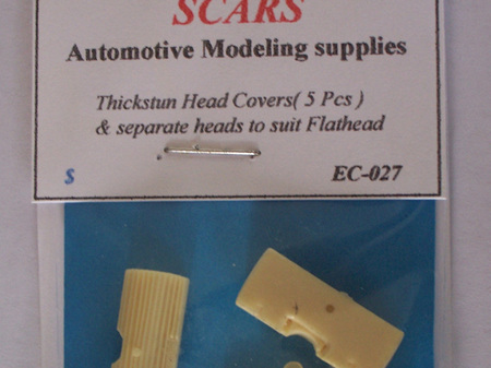 Resin Thickstun Head Covers (5 Pcs) & Separate Heads to suit Flathead