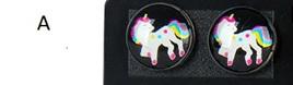 """Resin Unicorn Earrings! Style """"A"""""""