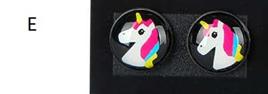 "Resin Unicorn Earrings! Style ""E"""