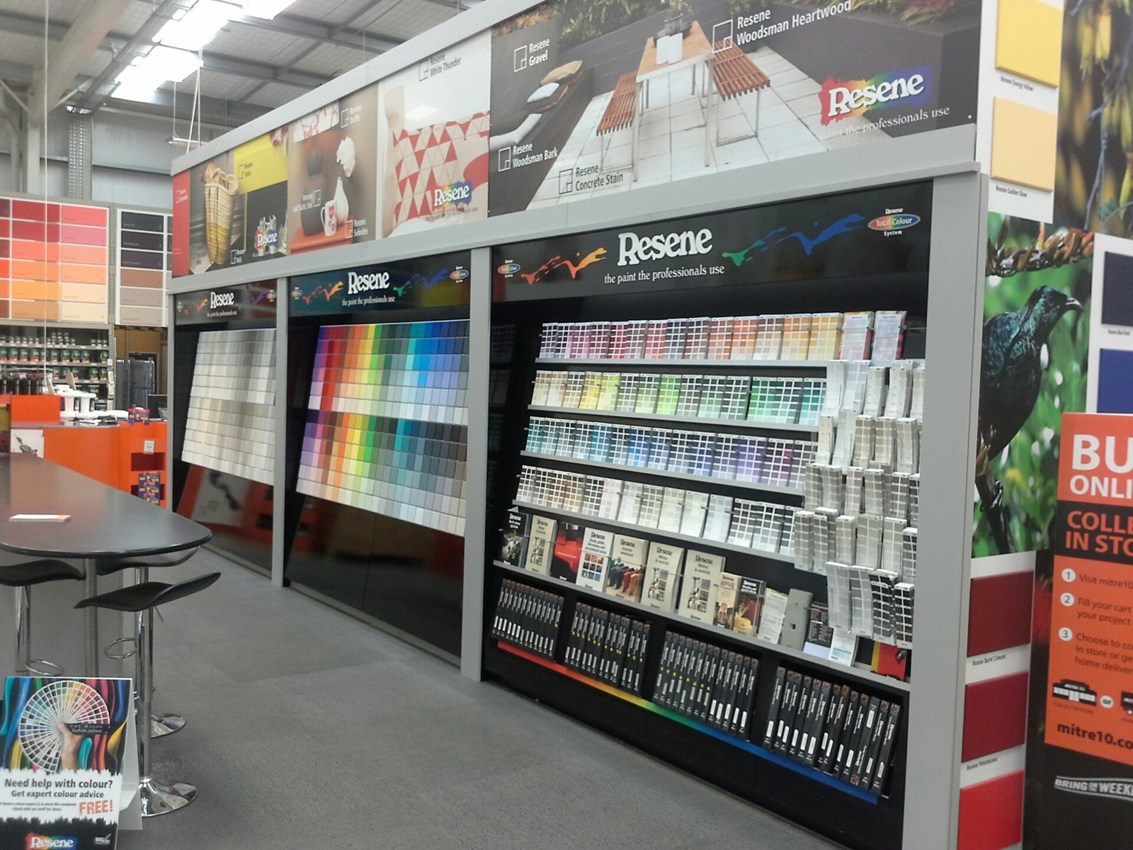 Retail Display Solutions Fixtures Fittings Paint Display Boards Product Display Boards