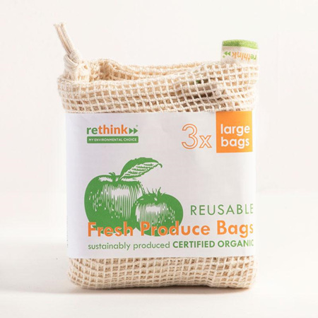 Rethink -  Reusable Produce Bags Large 3pk