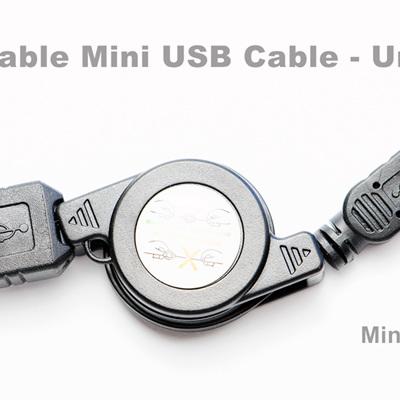 Retractable Mini USB Cable - Universal
